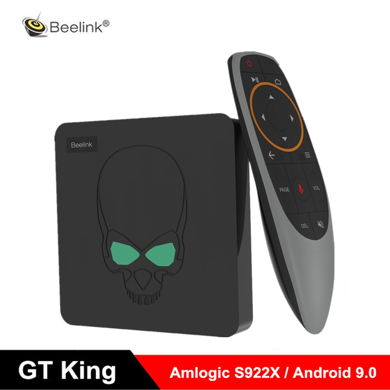 Beelink gt-king TV BOX Amlogic S922X GT King 4G DDR4 64G EMMC 2.4G + 5G double WIFI 1000M LAN avec 4K Smart TV BOX