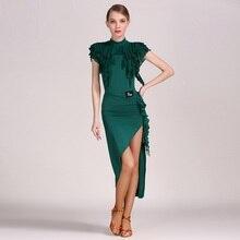 3 colors latin dance dresses for sale Dress for Latina costume for the dance costume salsa latin dress fringe tango top skirt