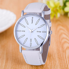 Latest 8Colors Louise Particular Trend Ladies Stainless Metal Leather-based Band Quartz Analog Wrist Watches FreeShipping Reloj Mujer
