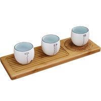 Japanese Wooden Tea Tray Saucer For Kung Fu Tea Coffee Kettle Teapot Storage Cutlery Tray Service