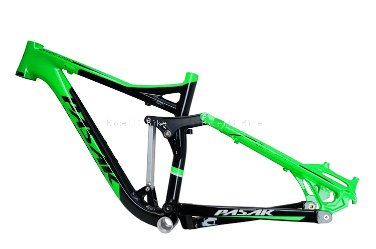 7005 Aluminum Alloy Cycling Frame Soft-tail Frame Full Suspension Downhill Mountain Bike26 27.5 Frame For Disc Oil Brake for 21 speeds27