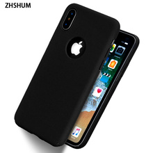 ZHSHUM Luxury Case for IPhone X Hard Plastic Phone Full Cases Back Cover Matte Shell Coque Funda