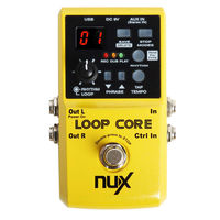 Electric Bass Guitar NUX Loop Core Guitar Effect Pedal 40 Built In Drum Patterns And 99