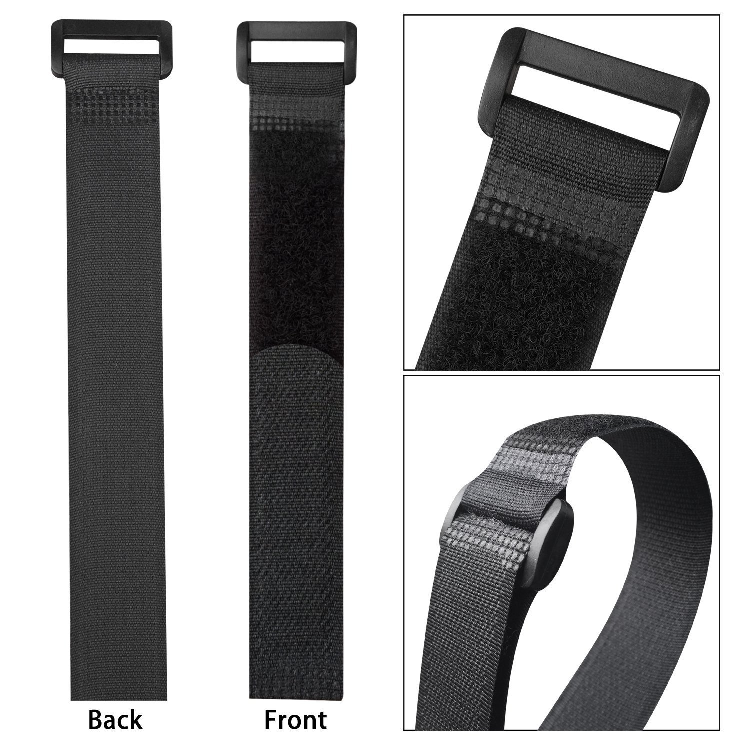 10pcs 8inch Self Adhesive Reusable Cable Tie Nylon Fastener Hook and Loop Strap Cord Ties PC TV Organizer 20cm Length 2cm Width