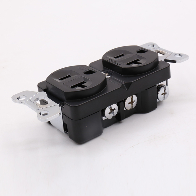 Hi-End Red Copper rhodium plated AC 20A Power Receptacles wall outlet power distributor 1pcs