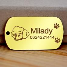 Free engraved write name phone dog