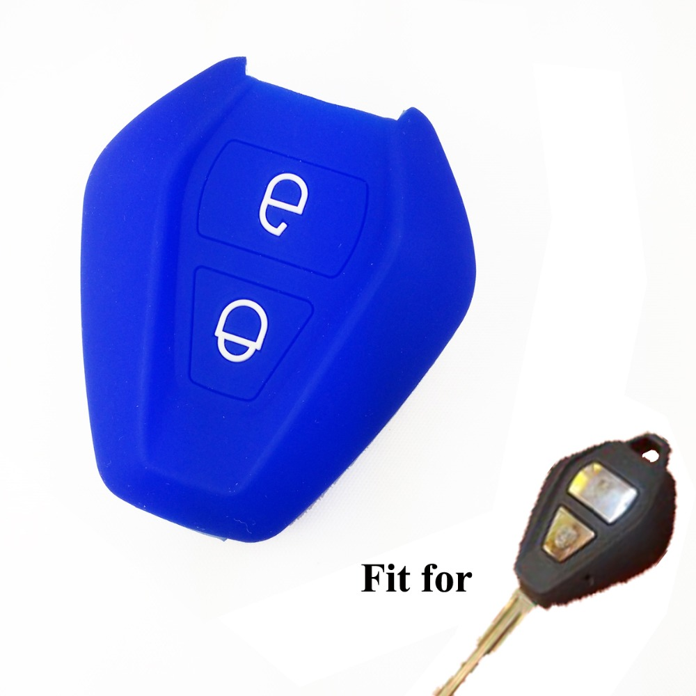 2btn blue silicone car key cover case protector for d max d max truck ute