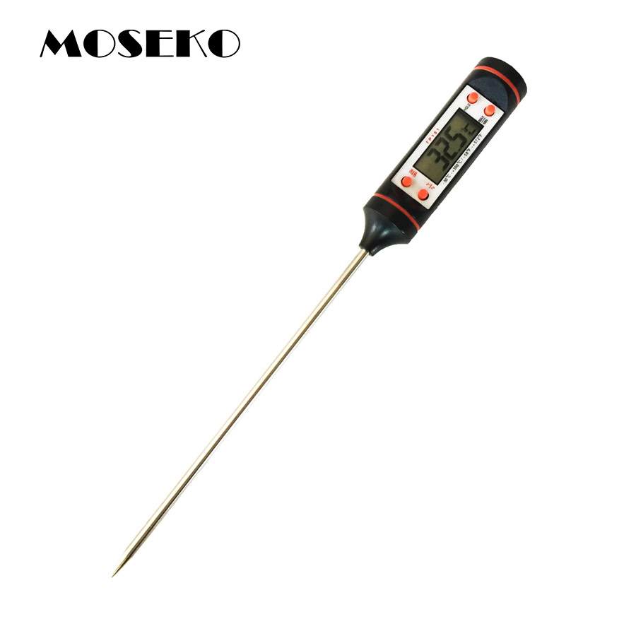MOSEKO Kitchen Cooking font b Food b font Meat Probe Digital BBQ Thermometer Dropshipping