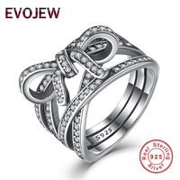 Authentic 100 925 Sterling Silver Delicate Sentiments Ring Sparkling Bow Knot Finger Rings For Women Engagement