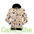 Japanese DOGE Meme Jacket Funny Joke Dog Casual Hoodie Sweatshirt man Coat New