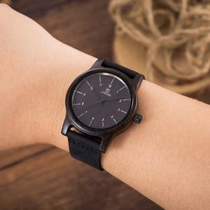 Image 4 - UWOOD บุรุษนาฬิกาข้อมือควอตซ์ Minimalism โบราณ Retro Soft หนังสร้อยข้อมือสามีกำไลข้อมือผู้ชายนาฬิกาไม้