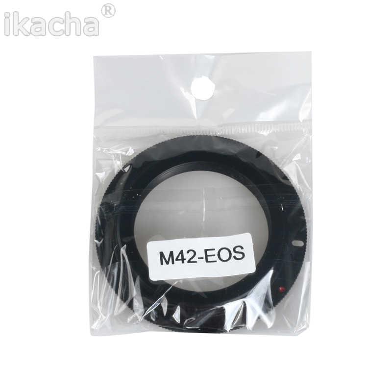 Lente de tornillo de aluminio M42 para Canon EOS EF, anillo adaptador de montura Rebel para Canon XSi T1i T2i 1D 550D 500D 60D 50D7D 1000D