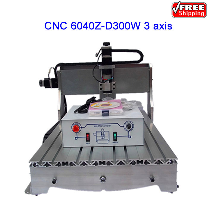 Cheap cnc wood carving machine 6040Z-D300 engraver router with ball screw, upgraded from CNC router 6040,Free shipping!