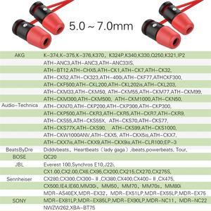 Image 5 - 6 пар сменных насадок для наушников New Bee, шумоизоляция, красные амбушюры из пены с эффектом памяти, вкладыши для наушников вкладышей