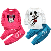 2016 New Children Clothing Set Minnie Toddler Girl Clothing Fashion Girls Clothes Wholesale Price Baby Boys