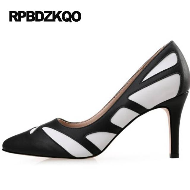 fc05c0a3893a Online Shop White Modern 2017 Pumps 12 44 3 Inch Ladies High Heels Shoes  Big Size 4 34 33 Black Novelty Discount 10 42 Pointed Toe Thin