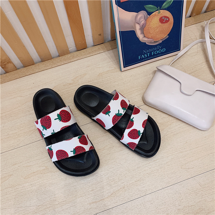 Funny Banana Women Men Bath Slippers Anti-Slip 3D Printed Casual Indoor Couple Sandal Athletic Babouche Flat Shoes