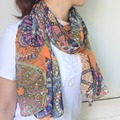 Ethnic Style Charming Scarves Chinese Traditional Design Vintage Winter and Autumn Scarf For Women Accessories