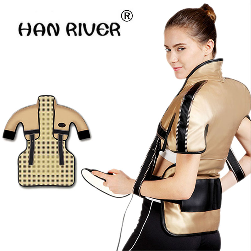 Back Massager Far-infrared heat therapy Neck Shoulder Beats Shawl Relaxation Pain Relief Health Care Chinese medicine moxibustio moledodo multifunction shoulder knock massager neck waist back vibrate massage cervical health care pain relief relaxation d50