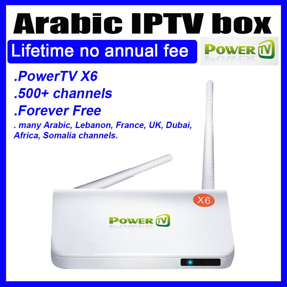 Arabic IPTV Android TV Box lifetime free no annual fee, support 450+ Arabic channel Set Top Box Internet & Media Streamers