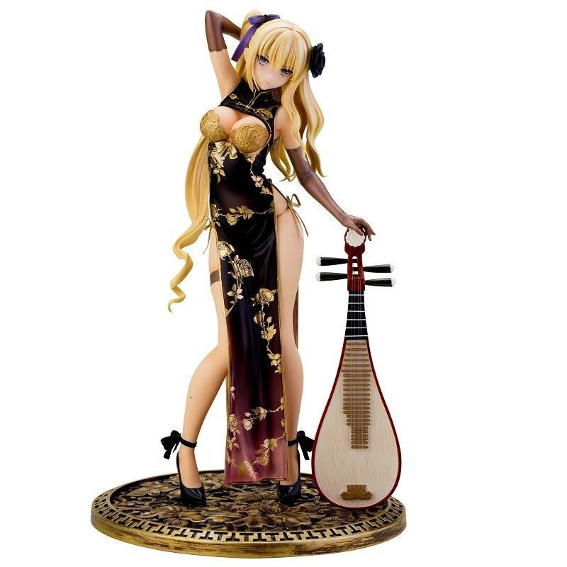 24CM Sexy Collection Model Girls Ping Yi Cheongsam 1/6 Scale figure fantasy Cast Off PVC Action Figure girl doll free shipping sexy 10 art girl fault kamiwazumi maya tennis wear cast off boxed 26cm pvc action figure collection model doll