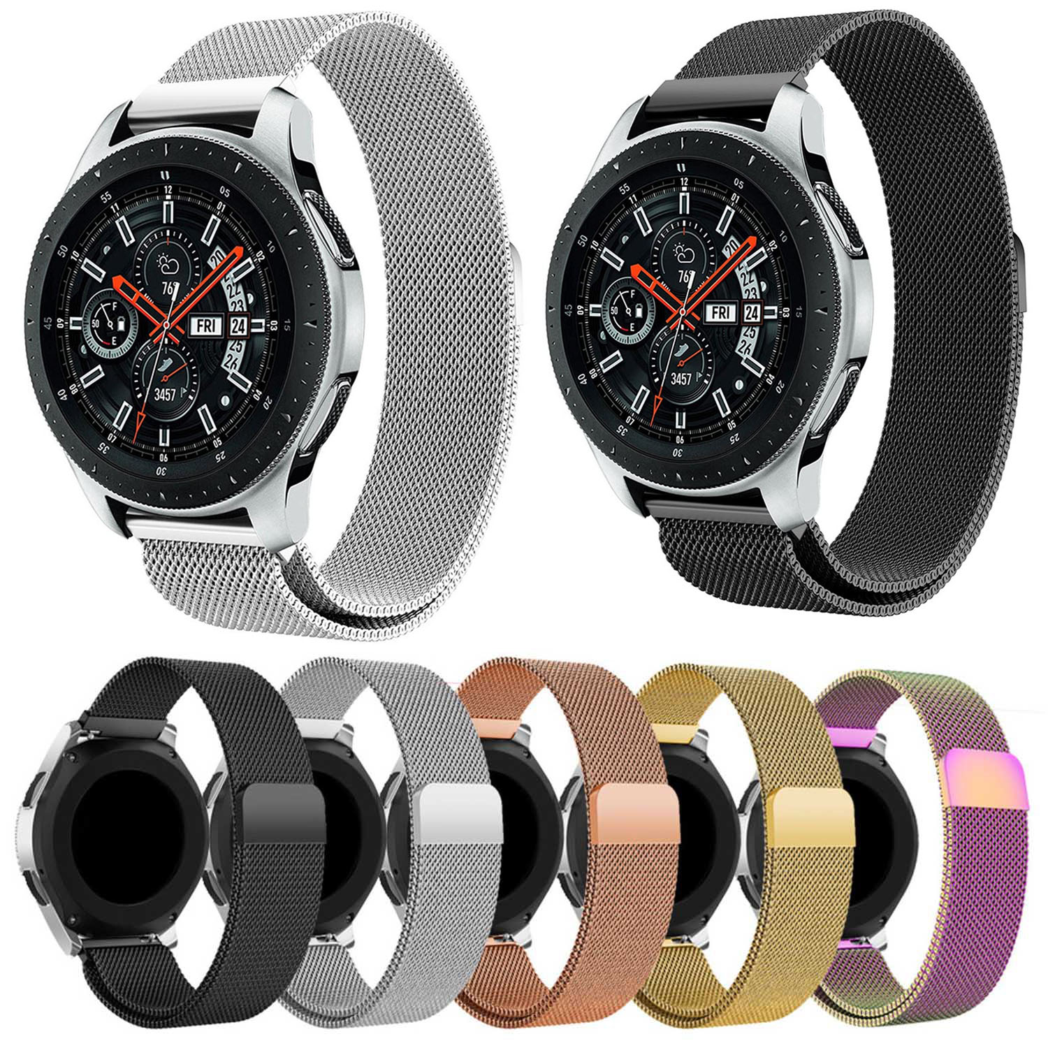 Milanese Magnetic Loop Stainless Steel Wristband for Samsung Galaxy Watch 46mm Band Strap 22mm Width Watchbands все цены