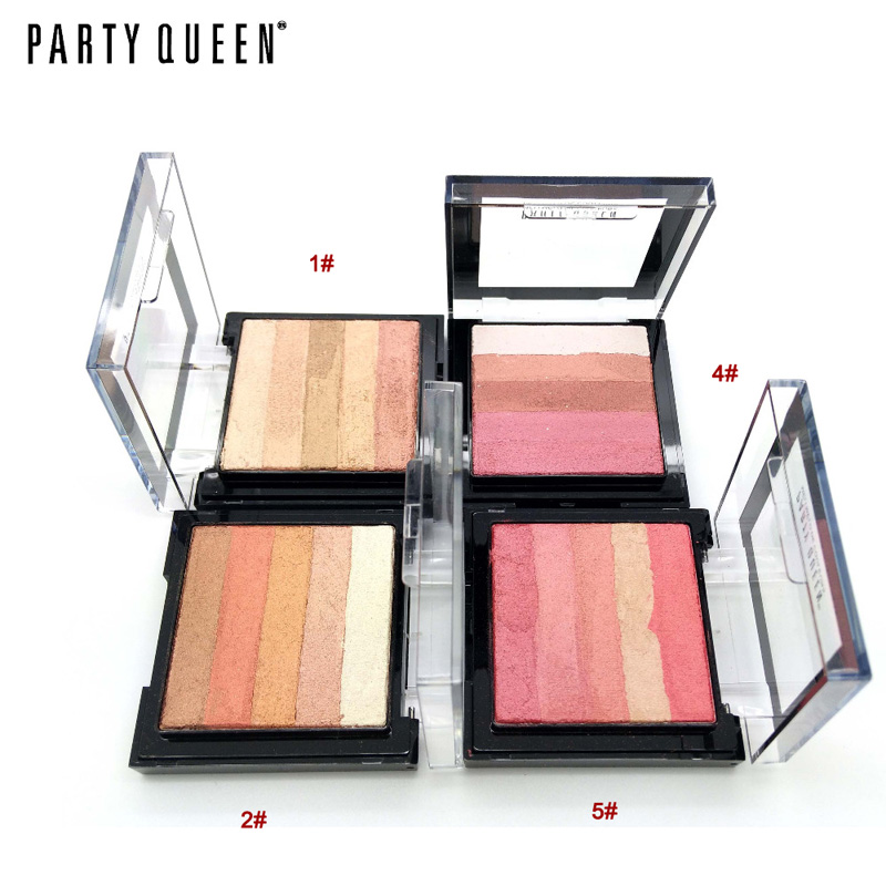 Bronzer Powder Blush and Highlighter Makeup Party Queen Pro Eye shadow Palette set Tanning Powder #01 27