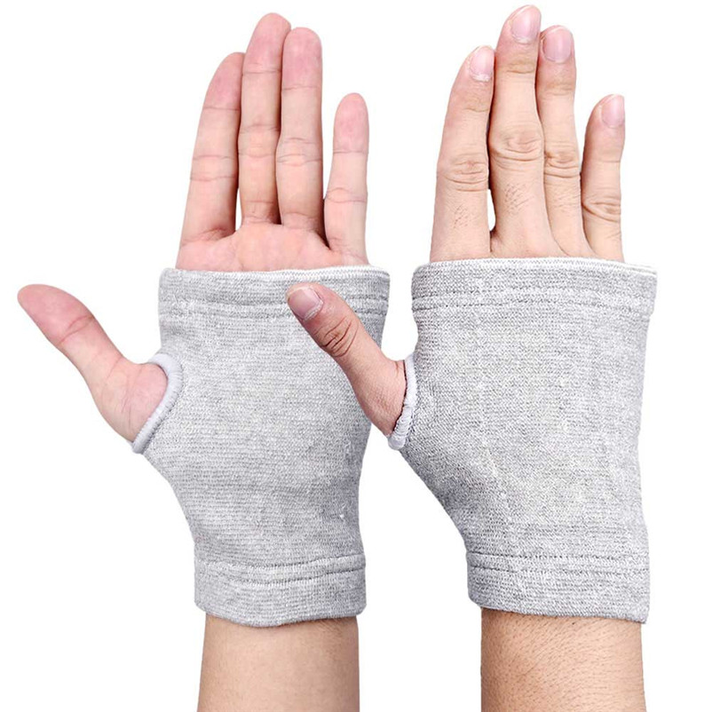 Yimistar #4066D 2017 new high quality Support Wrist Gloves Hand Palm Gear Protector Elastic Brace Gym Sports free shipping