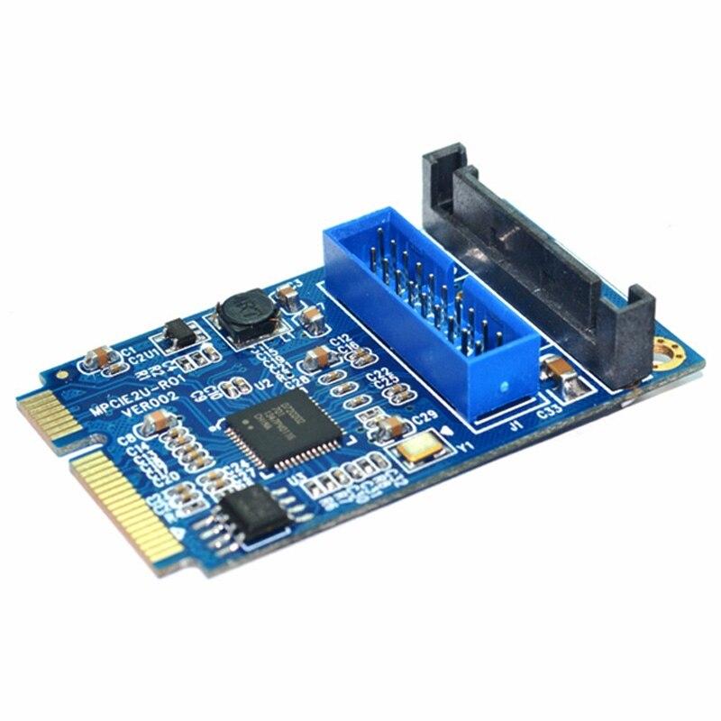MINI PCI-E to USB 3.0 Front 19 Pin Desktop PC Expansion Card pci e to