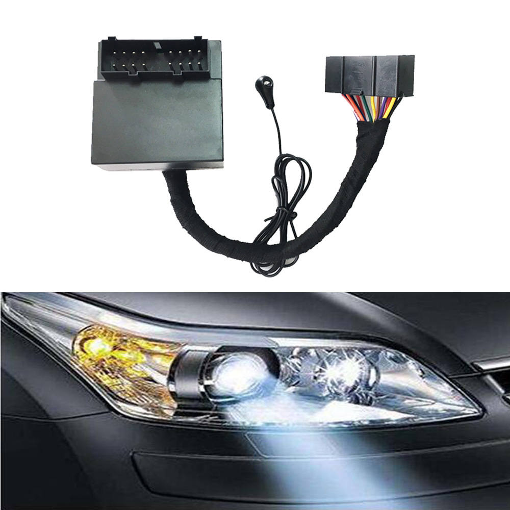 Auto Headlight Switch Headlamp Far Sensor Dimmer Controller HID Lighting Delay Smart Kit For Ford Focus 2 3 Mk2 Mk3 2005-2013