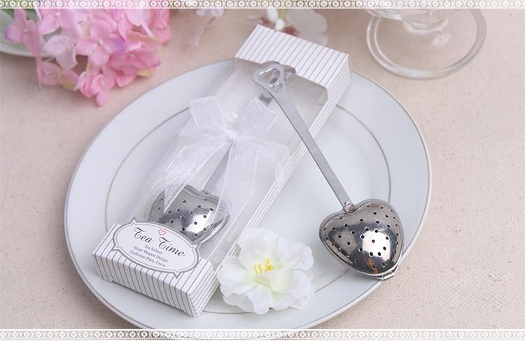 Practical Wedding Gift: 100pcs Practical Heart Shape Stainless Steel Tea Infuser