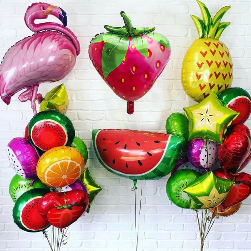 1pc Flamingo Pineapple Watermelon fruit Balloons Baby Shower Birthday Summer theme Party Fruit Helium Globos Decor Supplies Toys