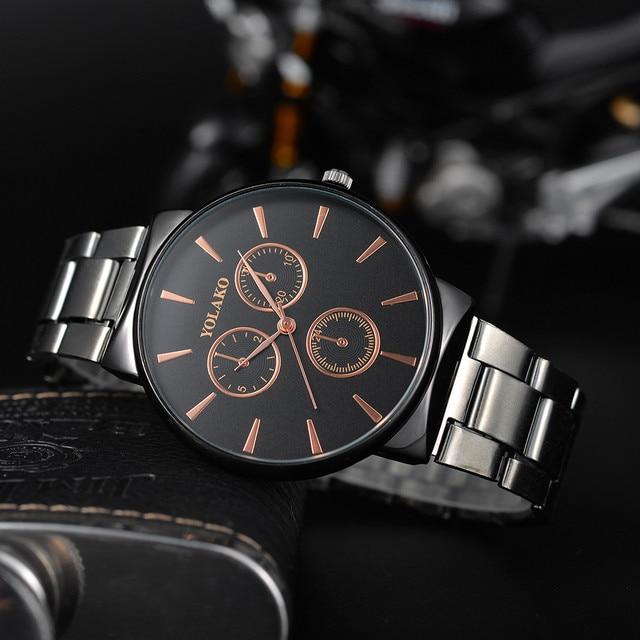 Men's Quartz Stainless Steel Band New Strap Watch Wrist Watch Clock Men Business Relogio Masculino Reloj