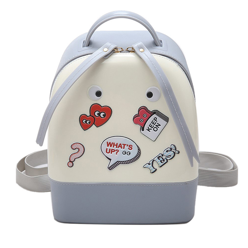 2017 Hot Jelly Shoulder Bag Sweet Cartoon Lovely Student School Backpack Preppy Style Teenager Girls Casual