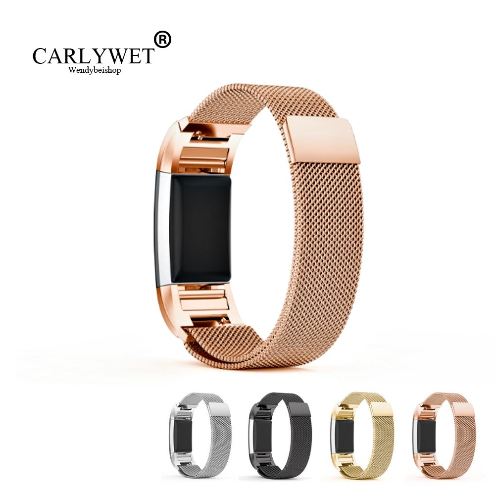 где купить New High Quality Silver Black Gold Rose Gold Milanese Stainless Steel Watch Band Strap Bracelet For Fitbit Charge 2 по лучшей цене