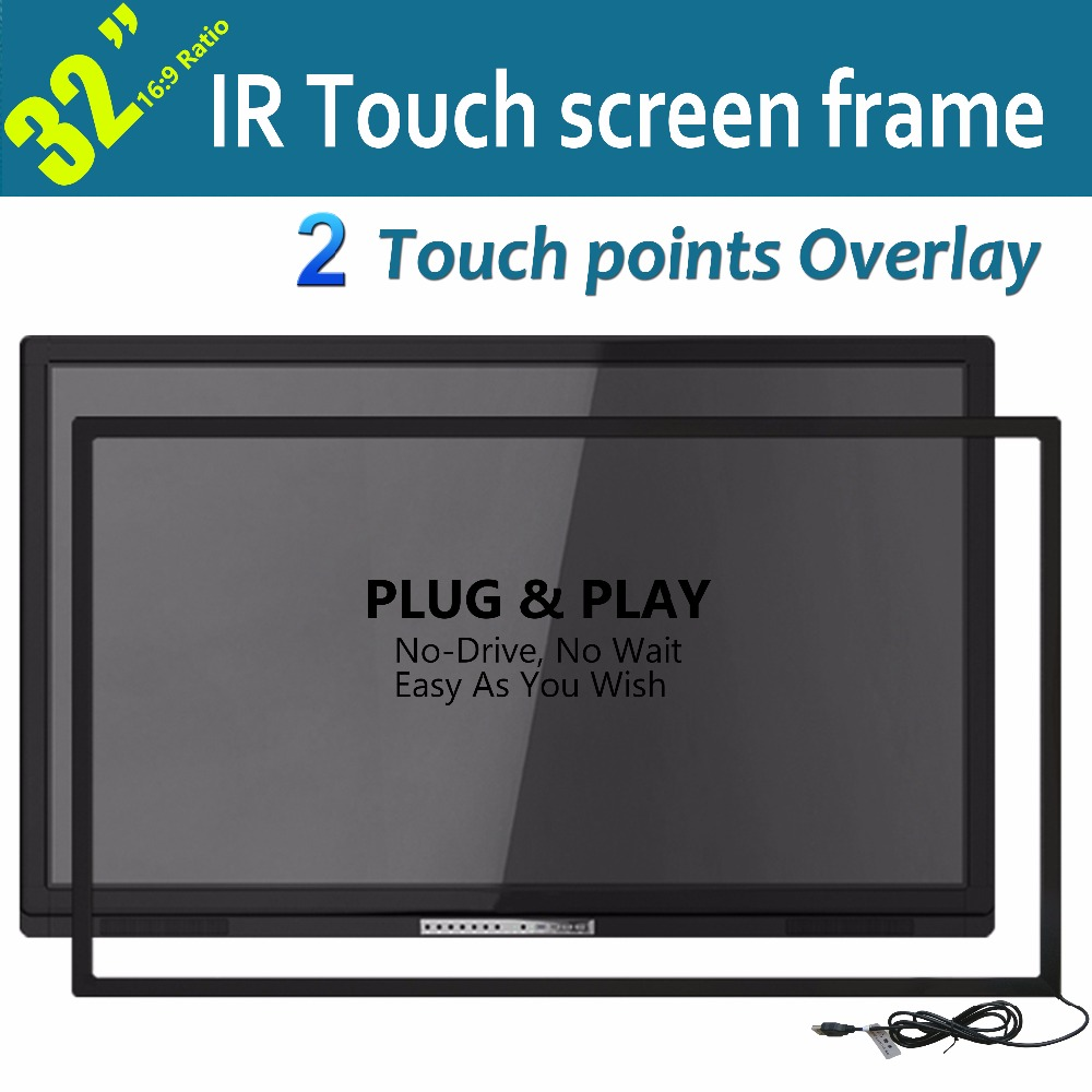 """Free Shipping Big sale 32"""" High Definition IR Touchscreen Overlay Kit For touch panel, LCD and Multi Monitor"""
