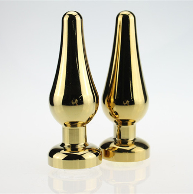 Small Medium Large Size Gold Metal Anal Toys Butt Plug Stainless Steel Anal Plug Sex Toys Sex Products for Adults H8-1-24
