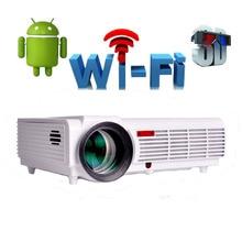 Wifi 3D Android 4.4 native 1280*800 unterstützung 1080 P 5500 Lumen TV projektor led projektor projetor beamer für zuhause theater led96