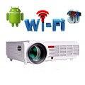 Wifi 3D Android 4.4 soporte nativo 1280*800 1080 P 5500 Lúmenes proyector led beamer projektor projetor para casa teatro led96