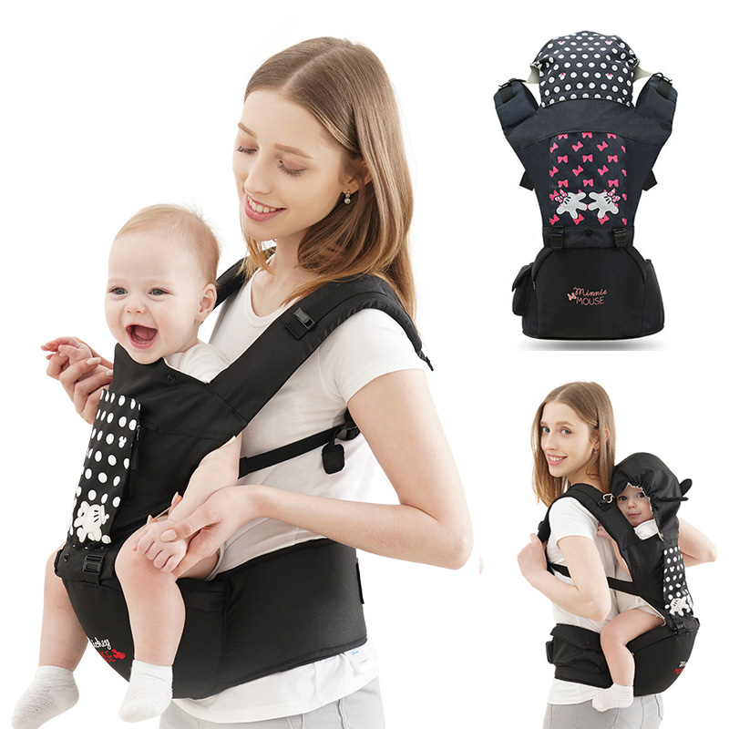 Breathable Ergonomic Carrier Backpack Portable Infant Baby Carrier Hipseat Heaps With Sucks Pad Baby Sling Carriers