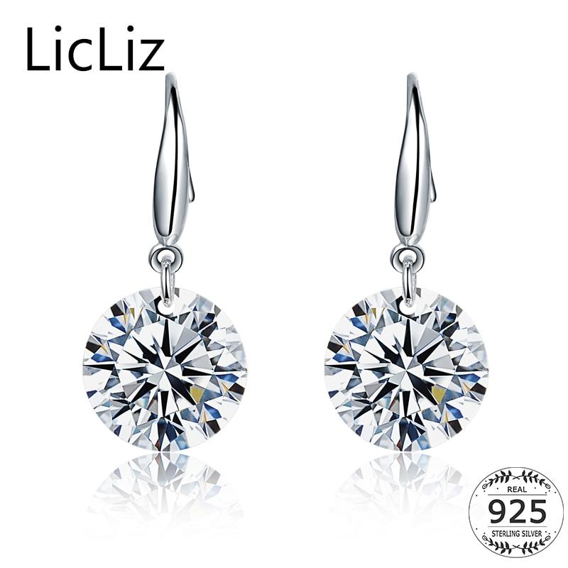 Licliz 925 Sterling Silver Cubic Zirconia Drop Earrings For Women Fish Ear Hook Dangle Cz Stone Pendant Earring Le0344 In From Jewelry