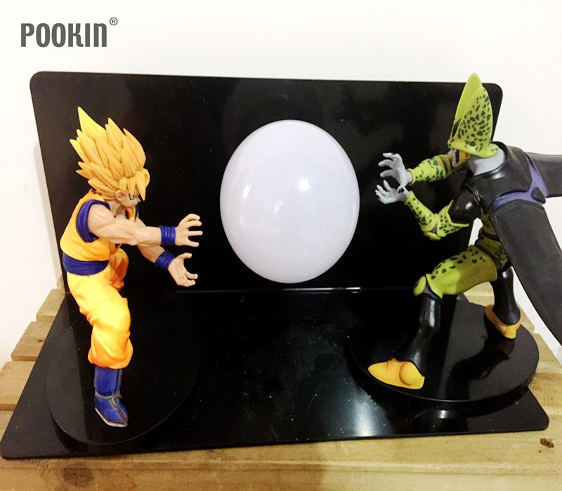 Hot Double Dragon Ball Son Goku Strength Bombs Luminaria Led Night Light Holiday Gift Room Decorative