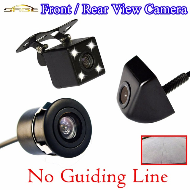 Car Rear View Camera (No Guiding Line) Waterproof Front Side Rearview Auto Parking Assistance Monitor 4 LED HD CCD Wire