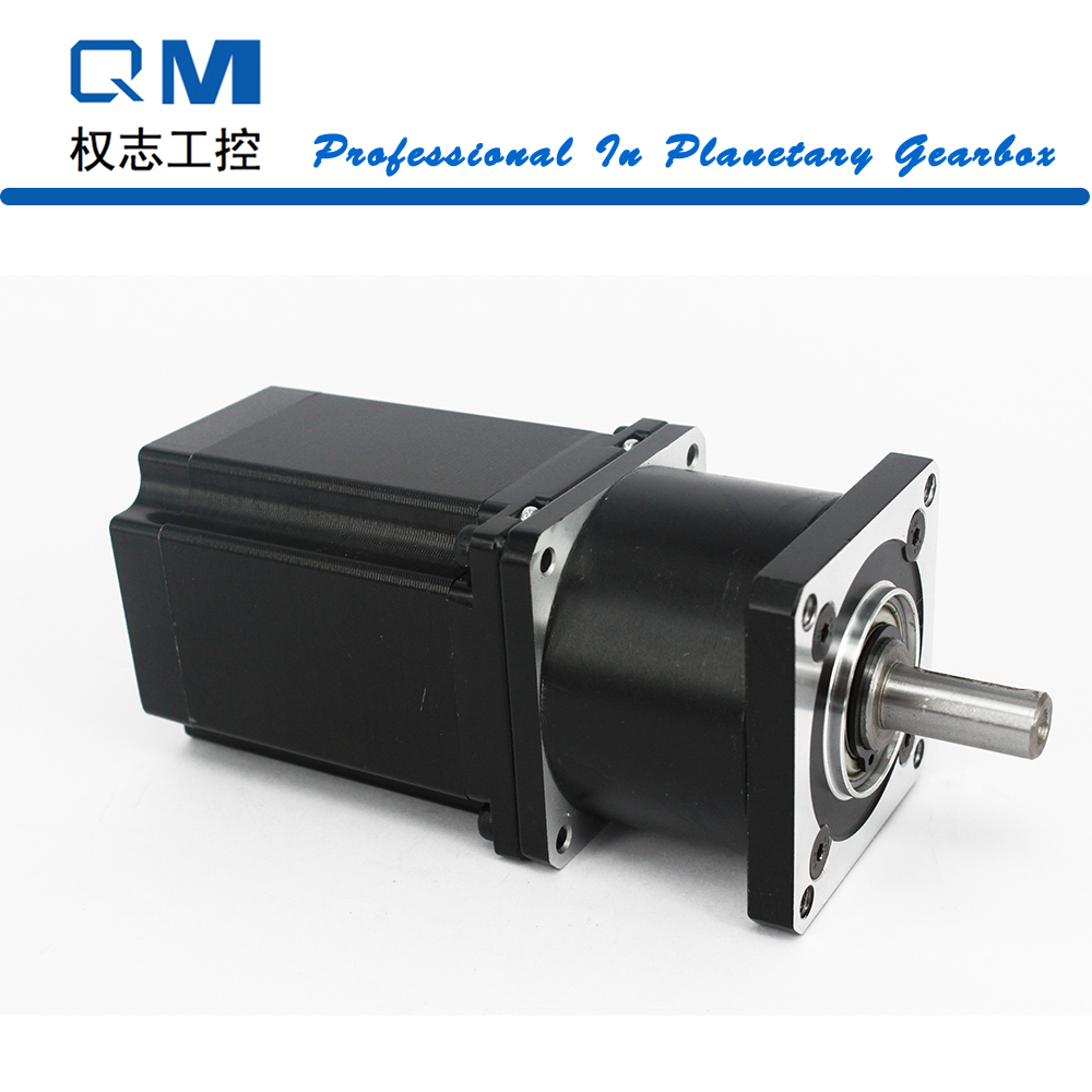 Gear motor planetary reduction gearbox ratio 4:1 nema 23 stepper motor L=77mm cnc robot pump nema23 geared stepping motor ratio 50 1 planetary gear stepper motor l76mm 3a 1 8nm 4leads for cnc router