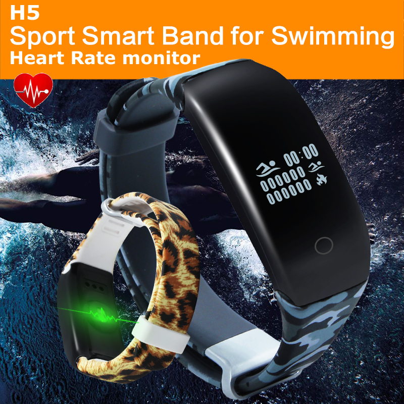 $26.30 New Arrvial Smart Wrist Band H5 Heart Rate Fitness run Swimming sleep monitor Bracelet Waterproof Sport Watch For iPhone Android