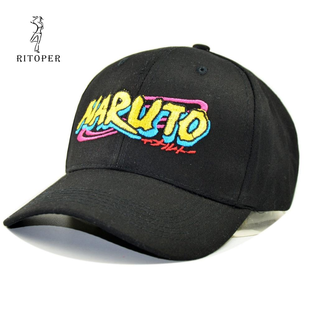 RITOPER Unisex Letter Comic   Baseball     Caps   Cotton Cosplay NARUTO Same   Baseball     Caps   Print Hats Fashion Harajuku Kapelusz Sombrero
