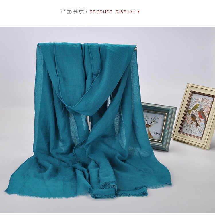 1 шт., однотонные хиджабы для женщин, вискозный однотонный зимний шарф, мусульманские шарфы с кисточками, 20 цветов размера плюс 180 см * 90 см