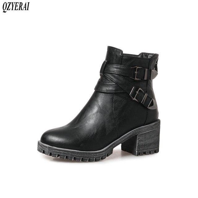 69d04d1e1999d QZYERAI Nowe damskie buty jesienią i zimą modne botki klasyczne retro kobiet  buty antypoślizgowe podeszwa rozmiar