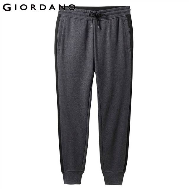 Giordano Men Pants Zip Pocket Terry Joggers For Men Knitted Jogger Pants Male Moletom Masculino Pantalones Hombre Casual 46