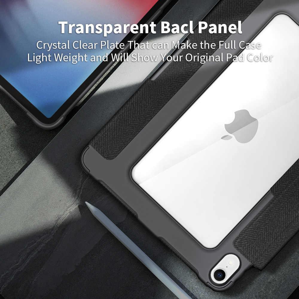 """Для iPad Pro 12.9 2018 Чехол для карандаша Прозрачный противоударный сверхмощный защитный чехол для планшета для iPad Pro 12.9 """"Pro12.9 Прочный тонкий кожаный прозрачный акриловый складной чехол Подставка для планшета"""